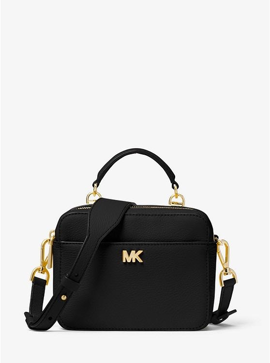 4fcedc045773 Michael Kors Mott Mini Pebbled Leather Crossbody - black
