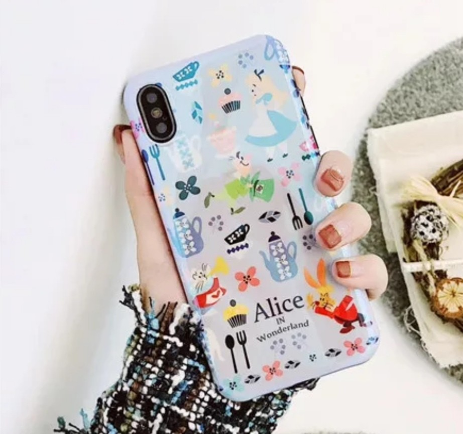 buy popular df47d 9a35d Minimalist Alice in the wonderland iPhone X Case iPhone 8 7 6 Plus Disney  Character Cute Alice