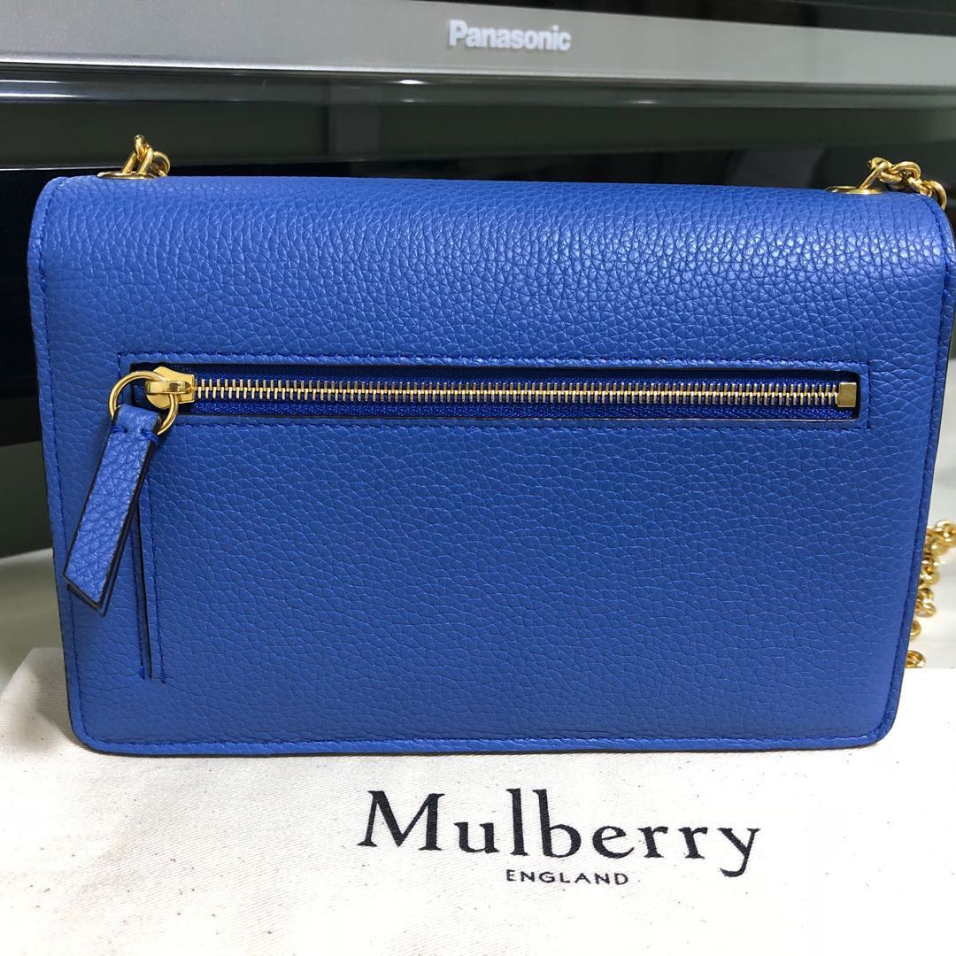 6c55ee0337c1 Mulberry Small Darley in Porcelain Blue - Price Reduced!