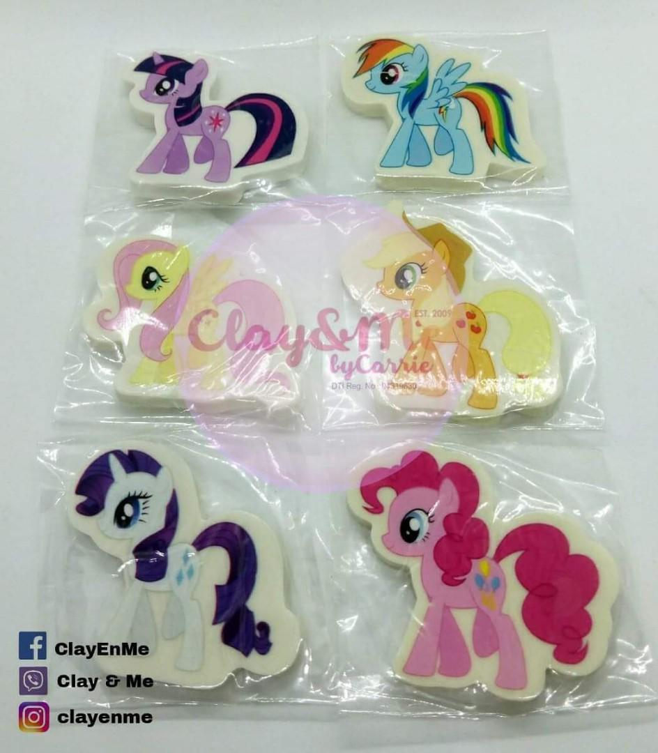 My little Pony erasers
