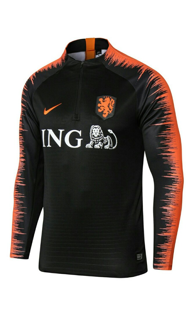 pretty nice 99ebf e7612 Netherlands 2018 Half Ziper Long Sleeve Top