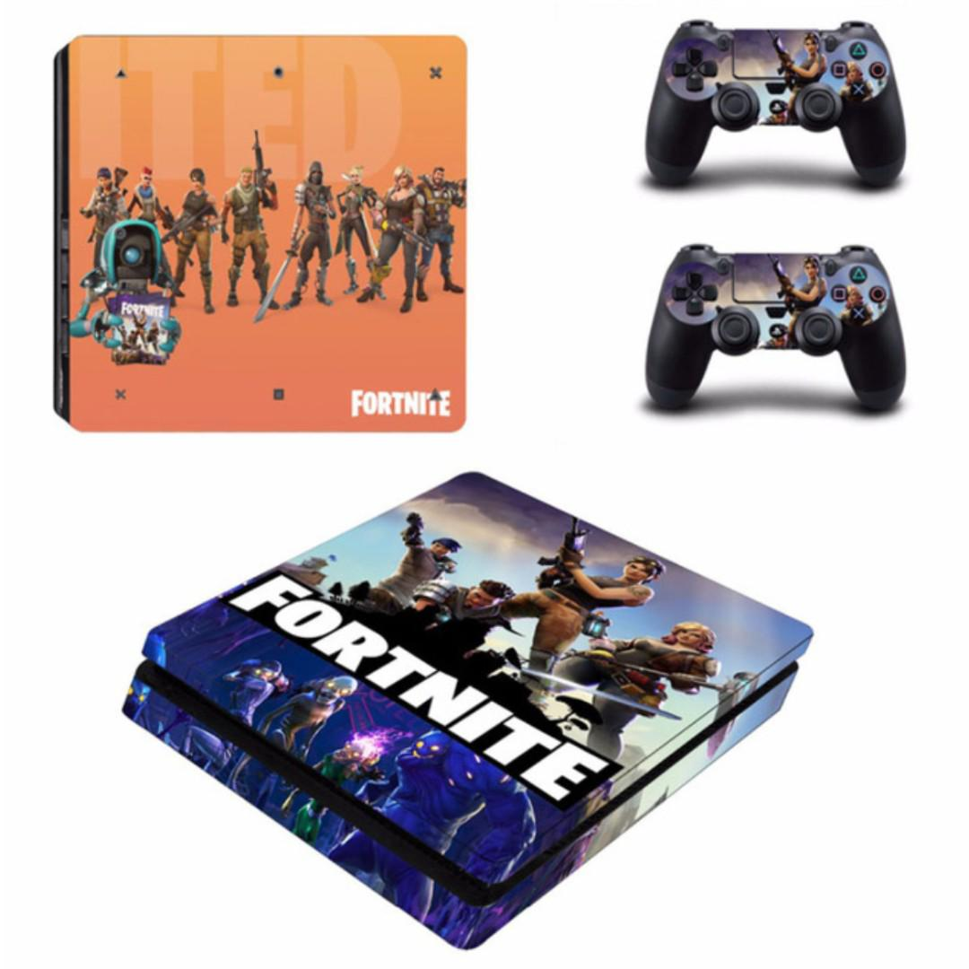 New!! Playstation PS4 Fortnite Stickers Full Set Console