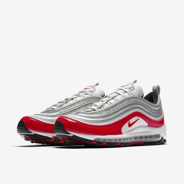 another chance 7352f 2a93c Nike Air Max 97 Silver Red UK 6 - 12