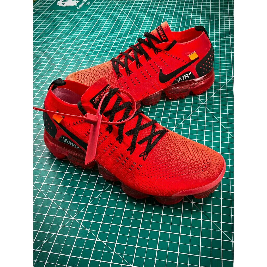 379d1045886 Nike x Off-White VaporMax 2.0 Flyknit Clot Red Colourway