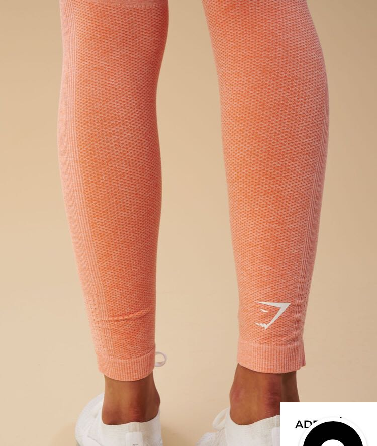 edce9df51d Gymshark Ombre Seamless Leggings- Peach Coral (Small), Sports, Athletic &  Sports Clothing di Carousell