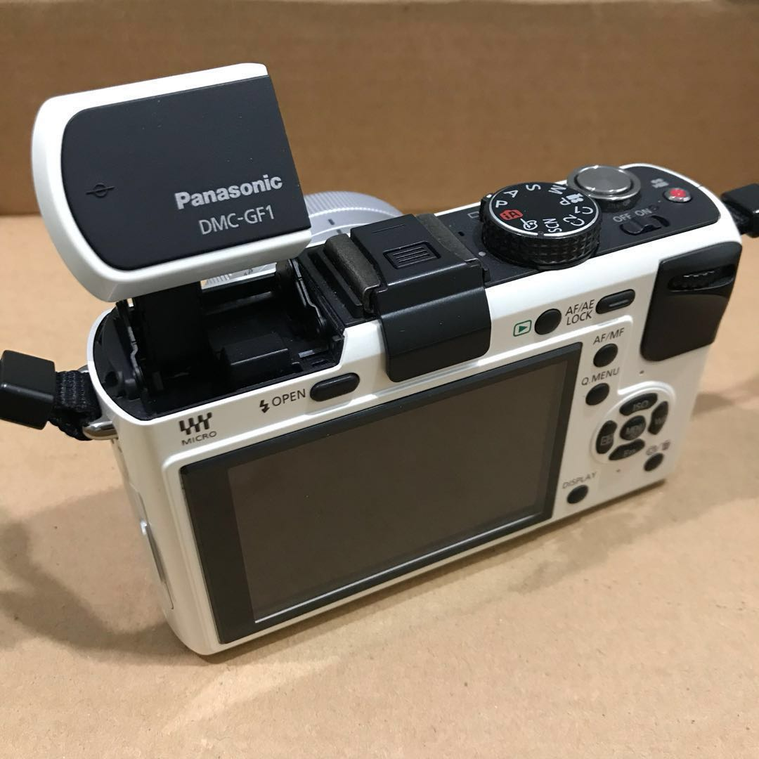 Panasonic Lumix Gf1 White Super Mint Condition Price Lowered Dmc Gf2 Kit 14 42mm Paket Kamera Di Carousell