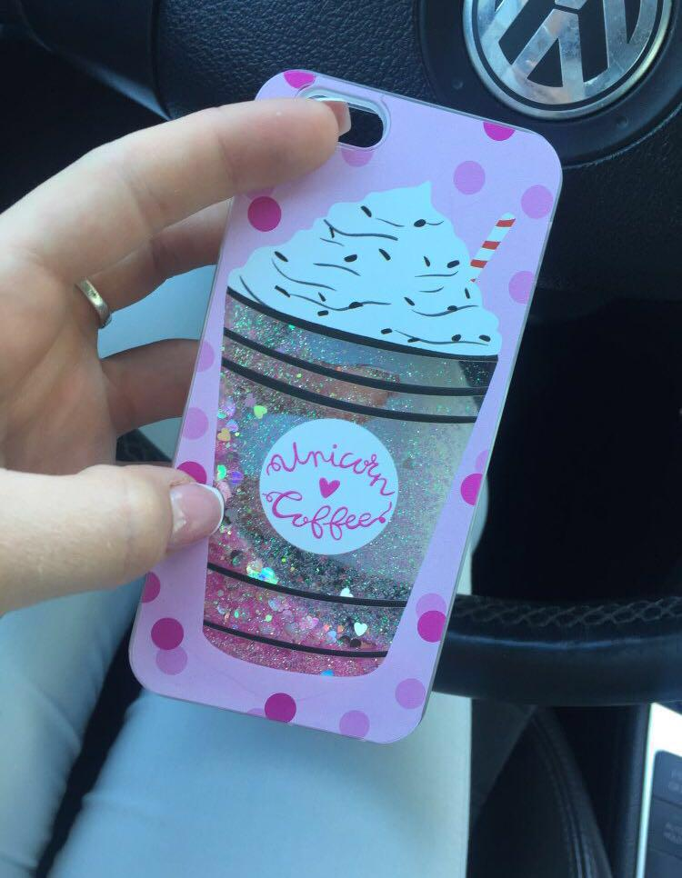 🔥Pink Glitter Drink Silicon iPhone Case🔥