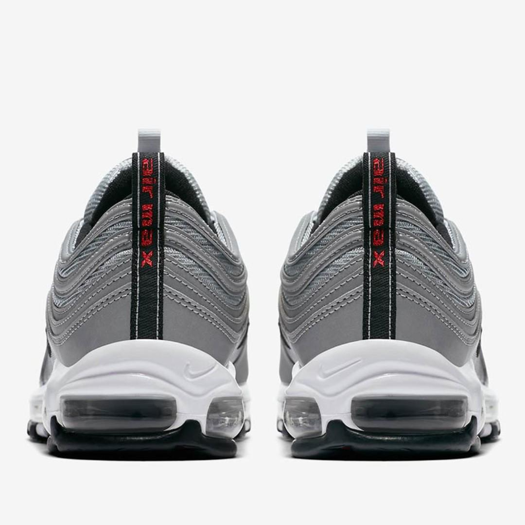 PO) Nike Mens Air Max 97 Premium 3M Reflective Silver, Men's