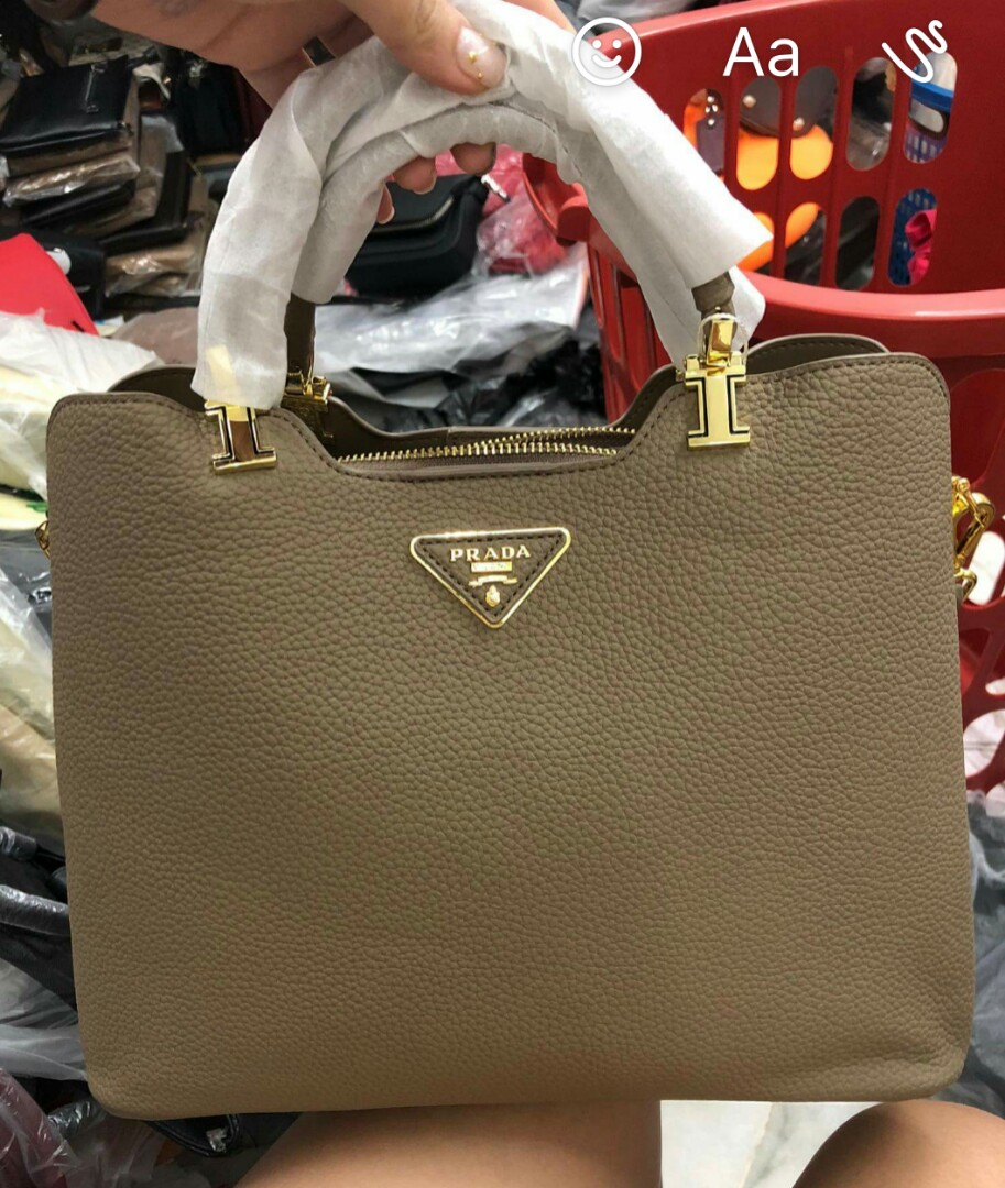7bdd7771186d Prada inspired real leather Bag Beg #augpayday, Women's Fashion ...
