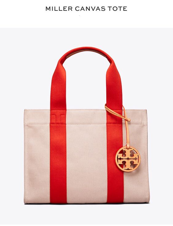 ed4cae662 Pre-Order) Tory Burch Miller Canvas Tote (Authentic)