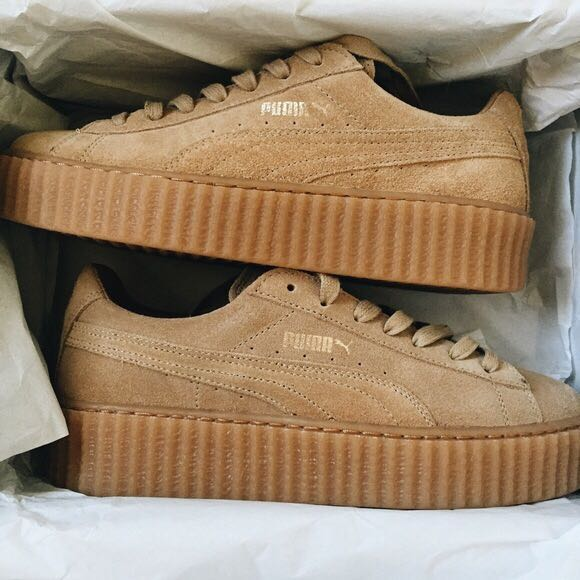 dc75e32ad Puma Fenty by Rihanna Oatmeal Creepers, Women's Fashion, Shoes on ...