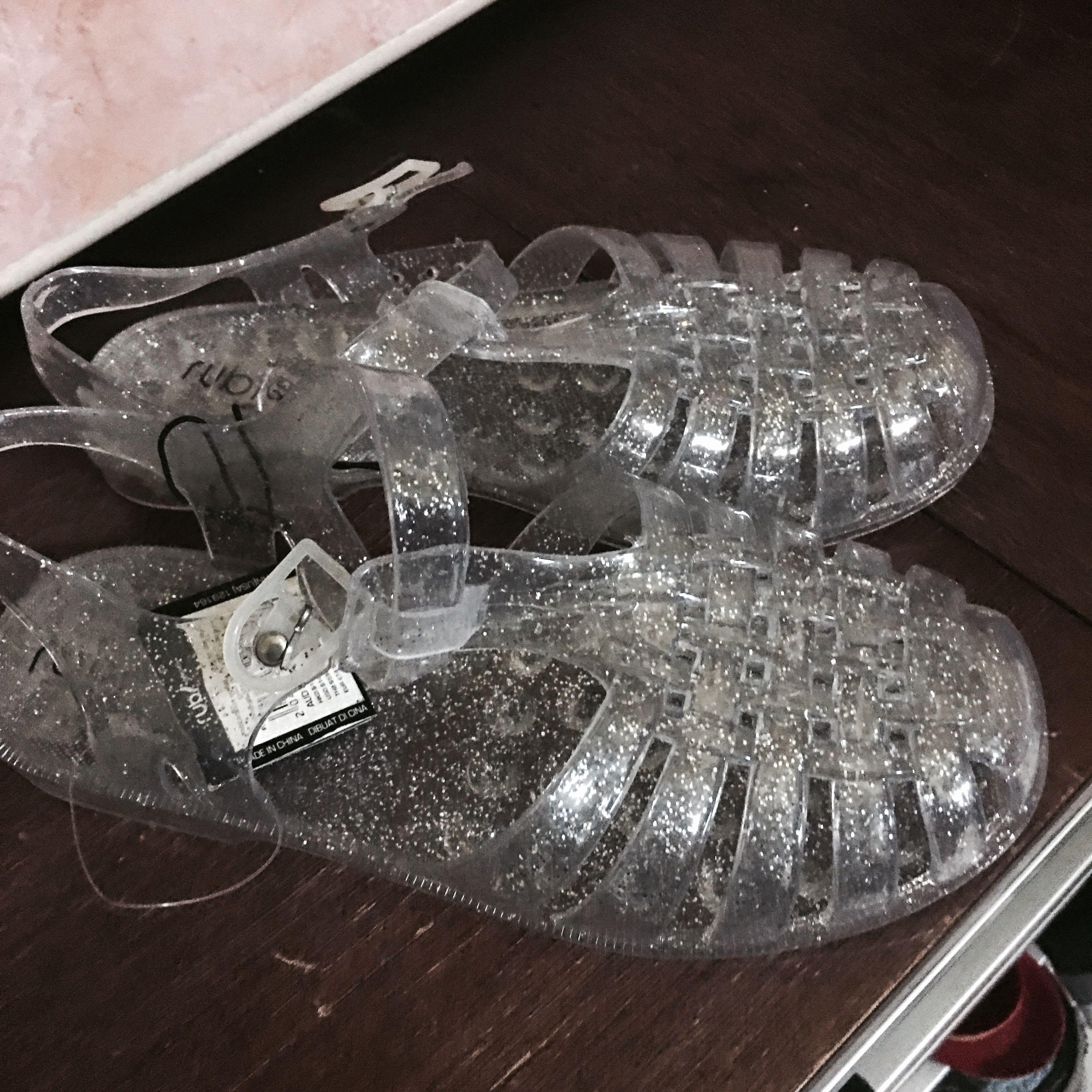 50065d8dc Rubi clear jelly glitter sandals
