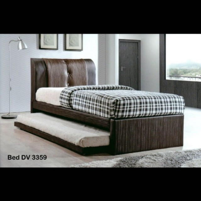 Single Pull Out Bed Frame 2 X 5 Hd Foam Mattress Furniture Beds