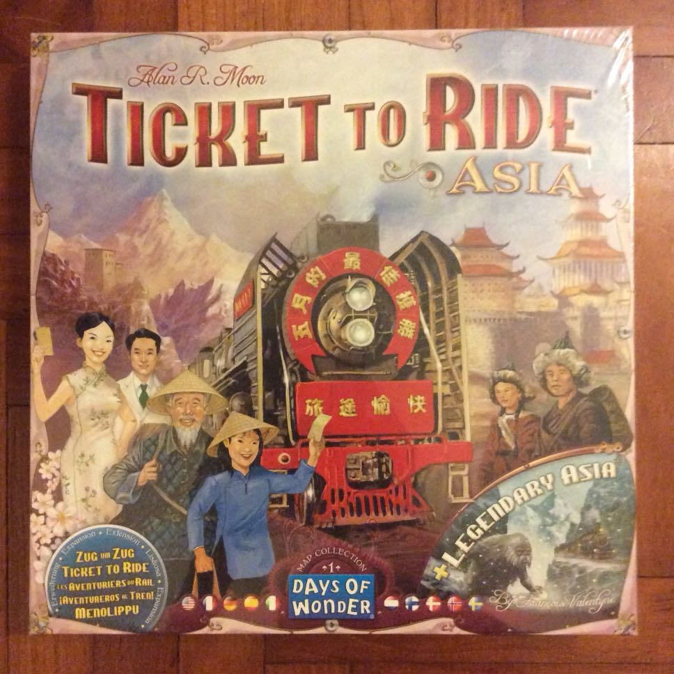 Ticket To Ride Asia Map.Ticket To Ride Asia Map Collection Vol 1 Expansion Toys Games