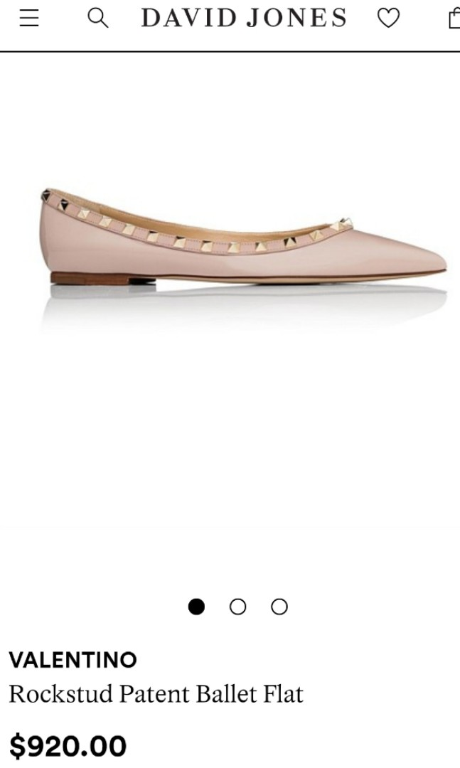 Valentino Poudre/Nude Rock Star Ballet Flats Size 38