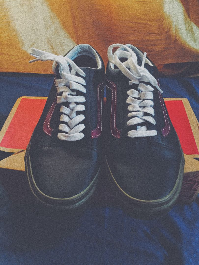 8f20ea8e4c Vans Old Skool (Bleacher) Black-Port-Gum