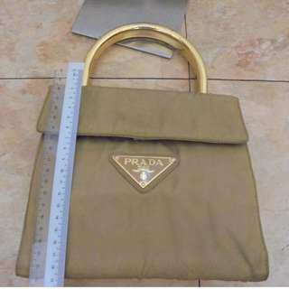 "AUTHENTIC PRADA ""KELLY-STYLE"" TOTE BAG"