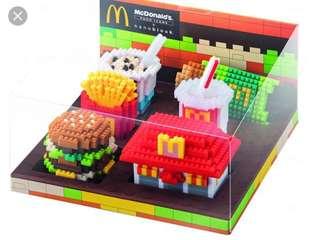 絕版-麥當勞推經典食品nanoblock小積木