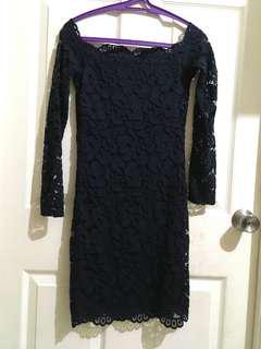 Divided navy blue lace dress not zara. Warehouse. M&S. H&M. Uni qlo. F21. Esprit