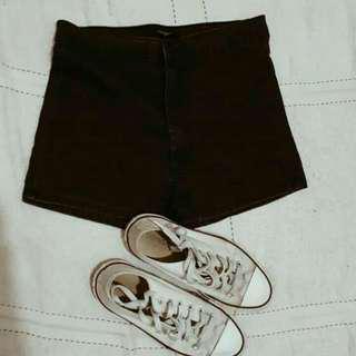 Navy Blue High-Waist Shorts (Forever 21)