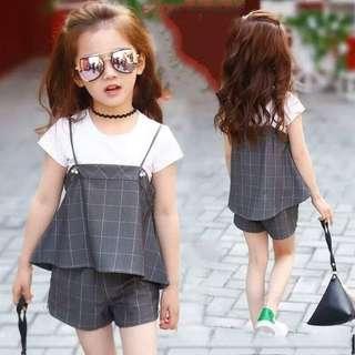 🚚 女童格子套裝