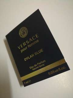 Sample  試用裝 Versace Pour  femme  Dylan Blue Perfume香水