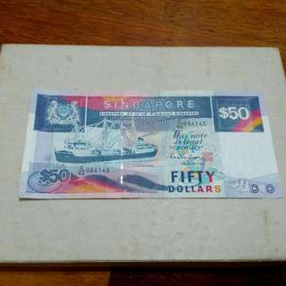 50 Singapore Dollars Ship Series Vintage