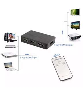 HDMI Switch HUB Splitter with Wireless Remote Control