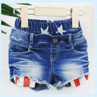 🚚 男女童美國米奇牛仔短褲