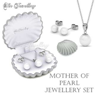 🚚 2018 Brand New Mother of Jewel Pearl Set - Crystals from Swarovski®
