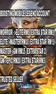 Mobile Legend Boosting Rank (ANDROID)