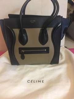 90% New Celine Luggage Handbag in Multi-color