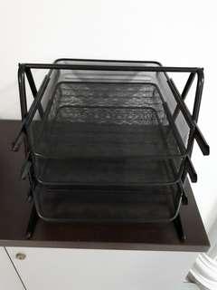 3 tier metal document tray