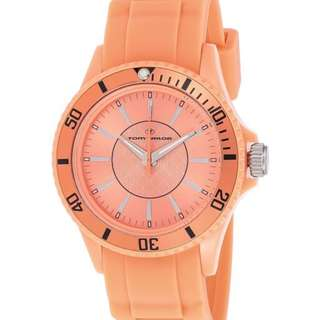 Tom Tailor Women's Orange Dial Silicone Band Watch