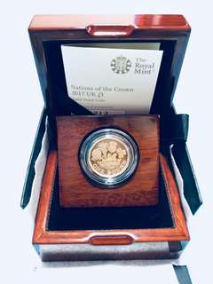 Nations of the Crown 2017 UK £1 Gold Proof Coin