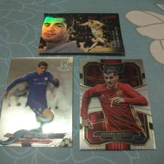 Alvaro Morata Topps/Panini trading cards for sale/trade (Lot of 3 cards)
