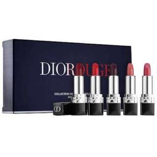 🚚 Dior Rouge Dior mini lipstick set 迪奧限量迷你唇膏五件套裝組
