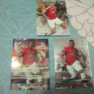 Anthony Martial Topps Manchester United trading cards for sale/trade (Lot of 3 cards)