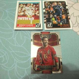Sergio Ramos Panini trading cards for sale/trade (Lot of 3 cards)