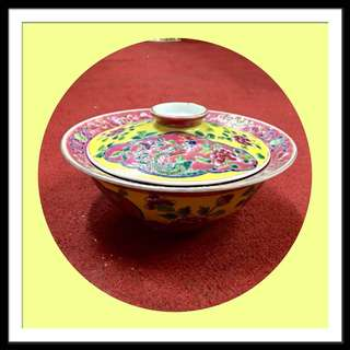 Vintage Peranakan Big Bowl With Lid