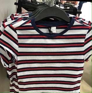 Stripe crop top H&M