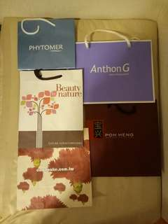 Assorted Branded Paper Bags (6 nos)