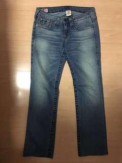 True Religion Straight Jeans (Size 28)
