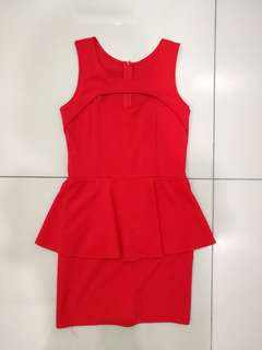Red Body Fit Dress (including postage)