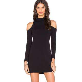 Cold shoulder body on dress