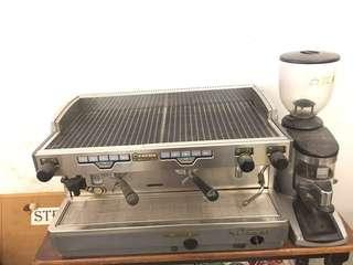 Italy Imported Espresso Coffee Machine & Grinder