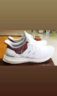ADIDAS ULTRA BOOST RAINBOW WHITE limited edition!