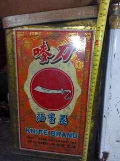 懷舊刀嘜牌花生油罐