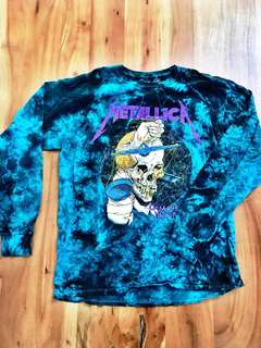 NEW Urban Outfitters - Men's Metallica Tie-Dye Long Sleeve Shirt