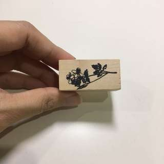 Wooden rubber stamp 01